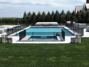 Do it Yourself pool fence for dogs